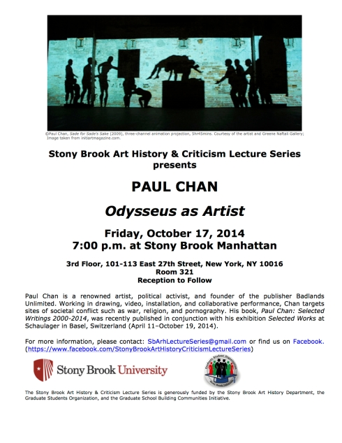 Paul Chan Lecture (10.17.14)