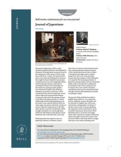 "Preview of ""Preview of ""Journal of Japonisme Weisberg (2).pdf"""""