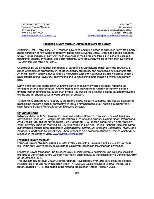 "Preview of ""Shaw Give Me Liberty PR.pdf"""