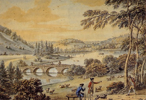 Stourhead,  Coplestone Bampfylde, wc 1753-1777, Hobhouse p 195