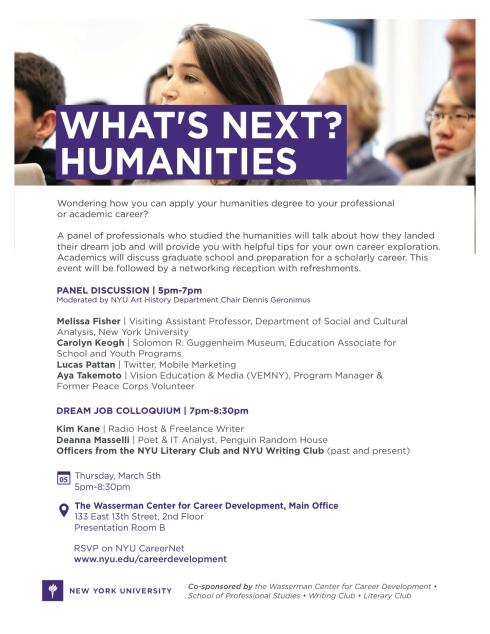 Career Panel Moderated by Professor Geronimus at Wasserman