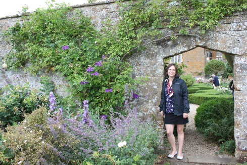 Lydia Brandt enjoying the gardens at Broughton Castle, Oxfordshire, UK