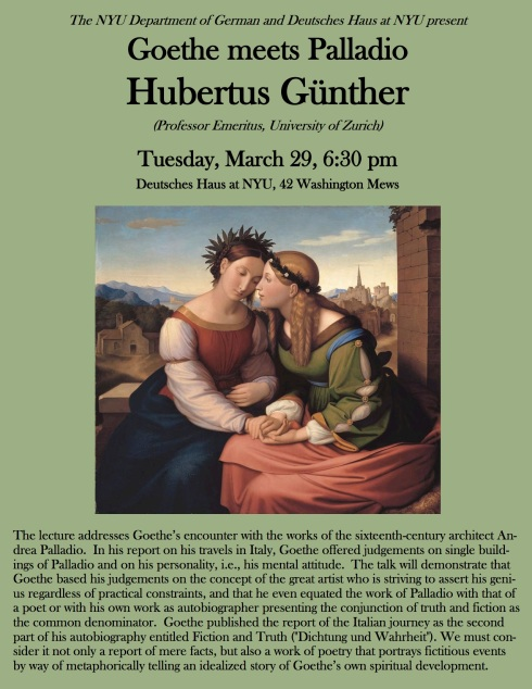 poster Hubertus Günther at NYU 3.29.16