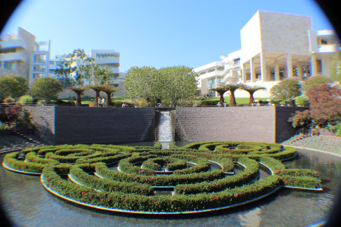 The Central Garden of the Getty Center, Los Angeles, created by Robert Irwin (Photo by Ellen Lei)