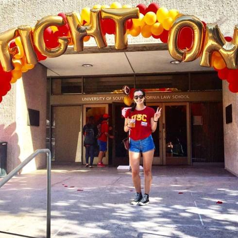 8 Sarah Lubin -- in her first year at USC Law, and as a fan of the USC football team