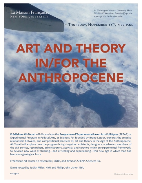 Poster Art and Theory in-for the Anthropocene