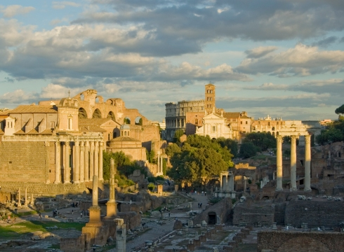 Forum at Sunset. Genesis of Roman Architecturea